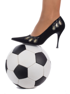 Soccer Ball with Shoe