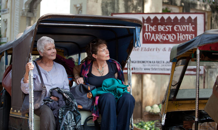 "L-R: Judi Dench and Celia Imrie in ""The Best Exotic Marigold Hotel"""