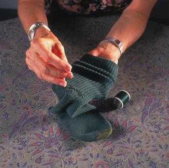 Darning a Sock