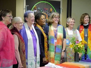 Three generations of Christian feminist ministers at the 2016 Gathering. Photo - Marg Herder