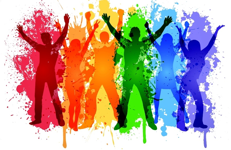 Rainbow People by Vector Frenzy
