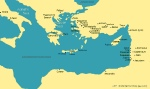 Map of early Christian church locations mentioned in Paul's letters